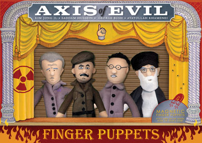 axis of evil finger puppet set